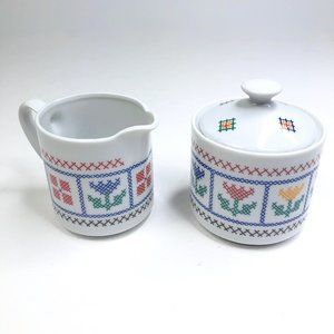 VTG Shafford Heirloom Sampler Sugar & Creamer